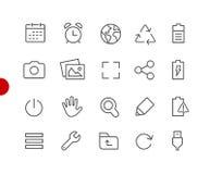 Web & ícones móveis 3 séries vermelhas do ponto de // fotografia de stock