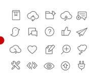 Web & ícones móveis 8 séries vermelhas do ponto de // imagens de stock