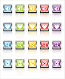 Web 1 (vector) de los iconos de MetaGlass fotos de archivo