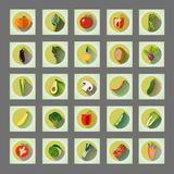 Bright graphic set of organic vegetables: potato, tomato, beetroot, shallot, eggplant, corn, carrot, pepper, avocado, asparagus vector illustration