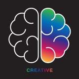 Abstract brain vector illustration