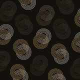 Elegant gold glitter circle seamless pattern background stock images
