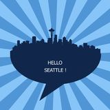 Hello Seattle, Travel To Seattle royalty free stock photos