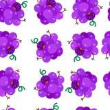 Seamless Pattern Background grape Vector Illustration stock illustration