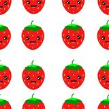 Vector seamless pattern with cute strawberry . strawberry background vector illustration royalty free illustration