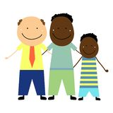 Same-sex couple with a child royalty free illustration
