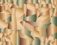 Geometric structures of copper coloured plates royalty free illustration