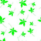 Autumn seamless pattern with leaves. Postcard with leaves prints. Leaves of trees royalty free illustration