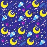 Night owl fliying in the night royalty free illustration
