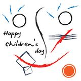 Happy children`s day in memphis design style. Template ready for use in web or print design. EPS file available. see more images related vector illustration