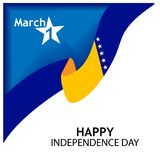Vector illustration. background Bosnia and Herzegovina independence day of march 1. Designs for posters, backgrounds, cards, banne. Rs, stickers, etc. EPS file stock illustration