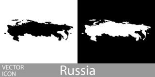 Russia detailed map royalty free illustration