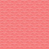 Square background for Valentine`s Day. Seamless pattern of hearts of coral color. Template of flyer or invitation royalty free illustration