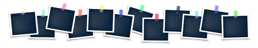 Big Set of blank photo frame with sticker royalty free illustration