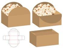 Box packaging die cut template design. 3d mock-up. A Box packaging die cut template design. 3d mock-up vector illustration