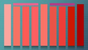 Set of main colors of the year 2019 Living Coral. Swatch striped trend colors for fashion industry cheerful soft and warm inspirat royalty free illustration
