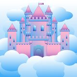 Vector illustration of castles in the air stock illustration