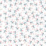 Pink flower seamless pattern. Small cute pink flower background royalty free illustration