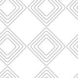 Seamless light gray rhombus geometric vector pattern royalty free illustration