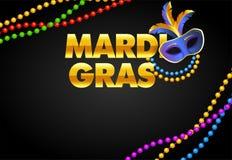 Mardi Gras banner design stock illustration