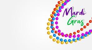 Mardi Gras banner design vector illustration