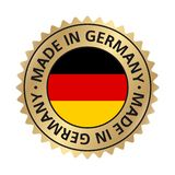 Made in Germany icon flag badge gold gradient royalty free illustration