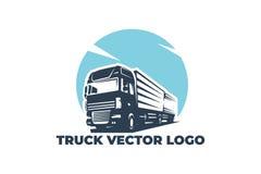 Truck vector logo, EPS 10 stock illustration