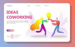 Business landing page template stock photo