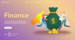 Business landing page template stock illustration