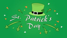 Happy saint / st. patrick`s day. Vectorial/vector celebration design concept illustration. royalty free illustration