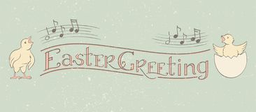 Easter Greeting Calligraphy banner royalty free illustration