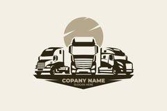 Truck vector logo, EPS 10 file stock illustration