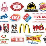 Fast Food Chain Logo Collection stock illustration