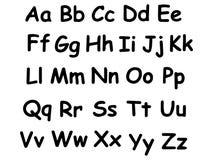 Hand drawn alphabet. Modern vector font. Creative font.Black on white stock illustration