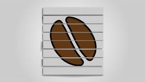 Ð¡ut image of coffee beans on white background. vector illustration