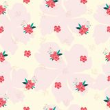 Red pink flower seamless pattern. Red pink flower background royalty free illustration
