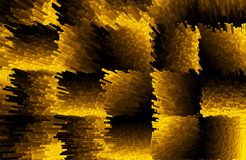 Abstract blocks with 3d effect of yellow and black colors. Illustrations stock illustration