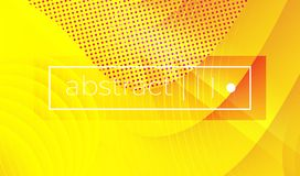 Abstract yellow wavy geometric vector background royalty free illustration