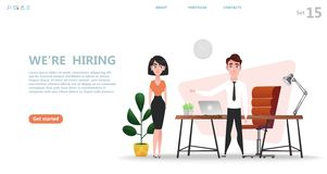 Online recruitment and Job hiring concept. royalty free illustration
