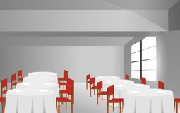 White floor and white wall in the room stock illustration