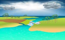 Blue sky background vector illustration