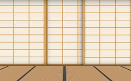 Wooden floor in the room vector illustration