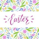 Cute easter card, poster, banner, print, sticker design