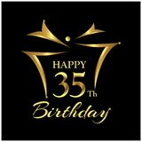 Happy Birthday thirty five years. Elegant design with number. royalty free illustration
