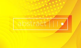Abstract yellow wavy geometric vector background stock illustration
