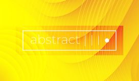 Abstract yellow wavy geometric vector background vector illustration