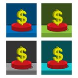 Dollar icon on the circle, stock icon. EPS file available. see more images related vector illustration