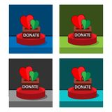 Donate icon on the circle, stock icon. EPS file available. see more images related royalty free illustration