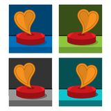 Love icon on the circle, stock icon. EPS file available. see more images related vector illustration