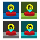 House icon on the circle, stock icon. EPS file available. see more images related royalty free illustration
